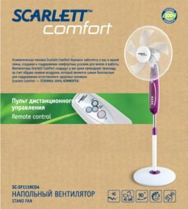 Вентилятор напольный Scarlett SC-SF111RC04 обзор